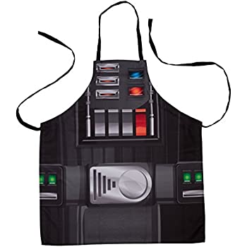 Star Wars Darth Vader Black Kitchen and Barbeque Apron - Adjustable Adult Size - Cook or Grill with the Force!