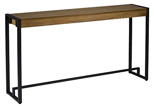 Macen Console in Weathered Gray Oak and Black - Table Oak Enterprises Southern