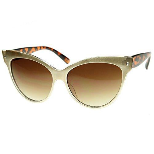 SWG EYEWEAR® Trendy Womens High Pointed Cat Eye Sunglasses Golden - Sun Tomford Glasses