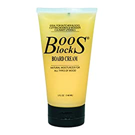 John Boos 5 Ounce Block Board Cream with Beeswax 9 All natural moisturizer Unbleached beeswax combined with food grade mineral oil Penetrates deeply into the grains of the wood