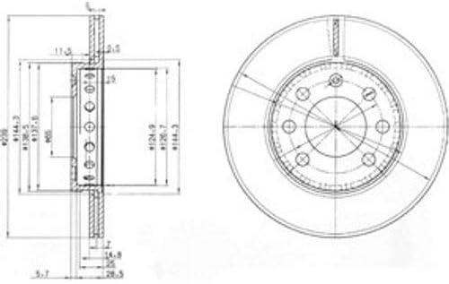 Delphi Bremsscheiben /Ø239Mm Bremsbel/äge Set Vorne