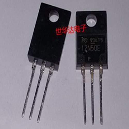 SAUJNN 5PCS 12N50E 12N50 TO-220F 12A500V N-Channel Power MOSFET