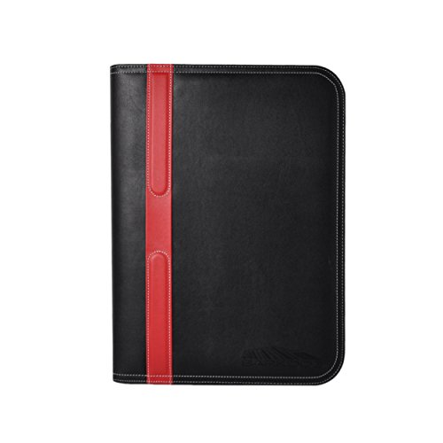 Portfolio - 3 Piece Bundle, Best Buy Gift, New Black/Red, Executive - Leather Binder Case, Tools, For The Interview, The Job, Financial Management, Office, Documents, Best - Travel Document Organizer. Photo #7