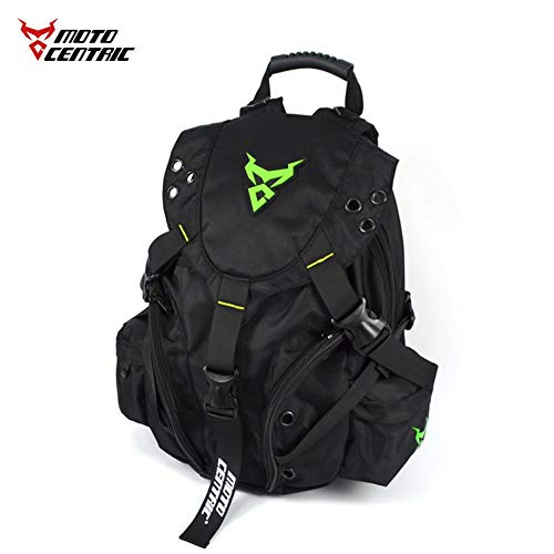 Motorcycle Backpack Waterproof Large Capacity Helmet Holder Shoulder Bag for Outdoor Sports Cycling Hiking Travel Computer Backpack