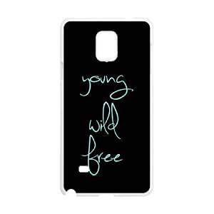 Custom Case for Iphone 4/4S with Personalized Design Young, wild & free