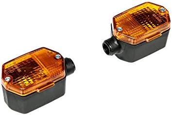 Mza Set 2 Blinker 6 Eckig In Schwarz Mit Orangenem Glas Simson S53 S83 Sr50 Sr80 Mz Etz Auto
