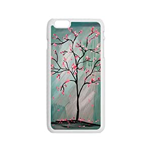 JIAJIA Unique pink tree Cell Phone Case for Iphone 6