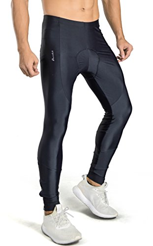 Przewalski Men's Padded Cycling Tights, Bike Pants, Quick-Dry & Windproof