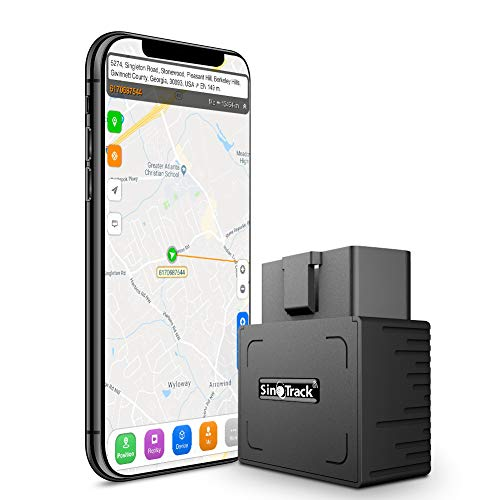SinoTrack GPS Tracker Platform No Monthly Fee, Real-Time OBD Car GPS Tracking Device Locator, Mini OBD II Vehicle Tracker with Alert System for Car, Taxi and Truck, Support Free Platform Lifetime (Small Gps Tracking Device No Monthly Fee)