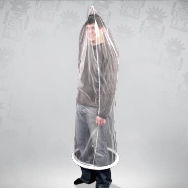 Party Discount Full Body Condom, White One Size