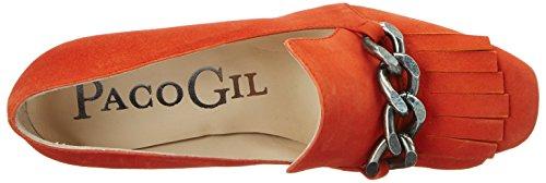 Paco GilP3084 - Scarpe con Tacco Donna Orange (Brick)