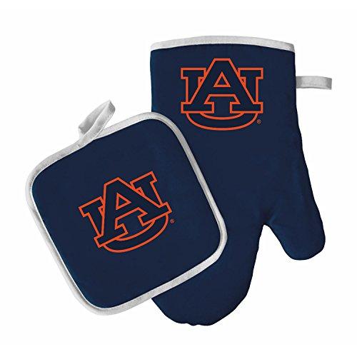 Oven Mitt and Pot Holder Set - Barbeque BBQ Kitchen Backyard Outdoors - NCAA - Auburn Tigers ()