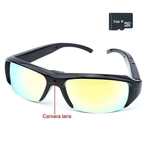 WiseupTM 1920x1080P Wearable Glasses Camcorder