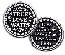 True Love Waits Pewter Pocket Token Refill Pack Of 3 (Pocket Token Refill)