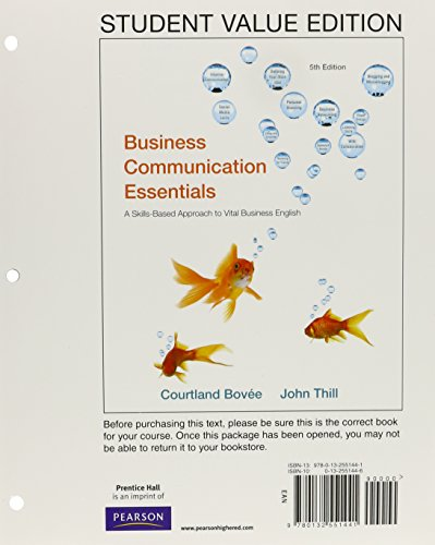 Business Communication Essentials, Student Value Edition...