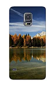 Ellent Design Clear Mountain Lake Reflecting The Trees Case Cover For Galaxy S5 For New Year's Day's Gift