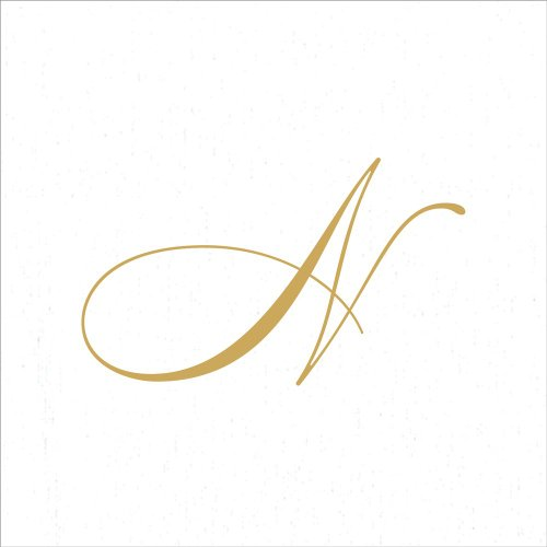 - Entertaining with Caspari White Pearl Paper Linen Cocktail Napkins, Monogram Initial N, Pack of 30
