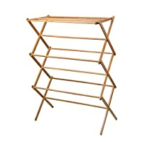 Home-it clothes drying rack – Bamboo Wooden clothes rack  – heavy duty cloth drying stand