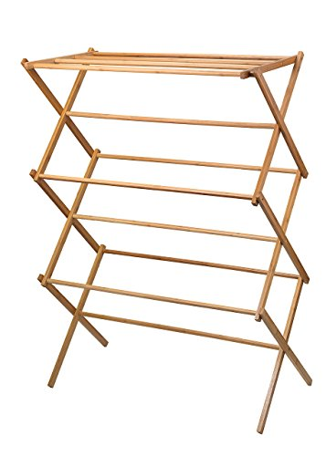 41iWmCiH6rL - Home-it clothes drying rack Bamboo Wooden clothes rack SUPER QUALITY cloth drying stand