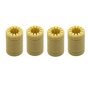 Amazon.com: ueetek 4 unidades Plástico Sólido polímero LM8UU ...