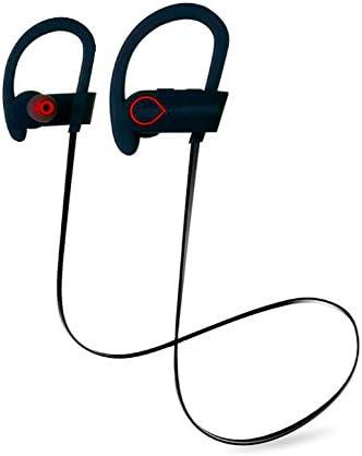 Oreillette Bluetooth, POOPHUNS Ecouteur Bluetooth 4.1 Casque Stéréo Sans Fil Intra Auriculaire Sport Compatible avec Tout Appareills