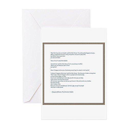 CafePress - Velveteen Rabbit Quote - Greeting Card, Note Card, Birthday Card, Blank Inside Matte