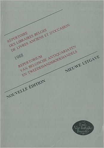 R Pertoire Des Libraires Belges De Livres Anciens Et D