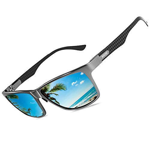 Bircen Polarized Driving Carbon Fiber Sunglasses For Men Sport Mens Sunglasses Al-Mg Metal ()