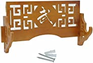Eforlife Sword Holder Wall Mount Samurai Sword Display Stand Sword Rack Hanger for Katana Wakizashi and Standa