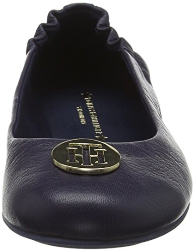 Navy Ballerines Femme 406 Flexible Tommy Bleu Ballerina tommy Leather Hilfiger 8P1FqZf