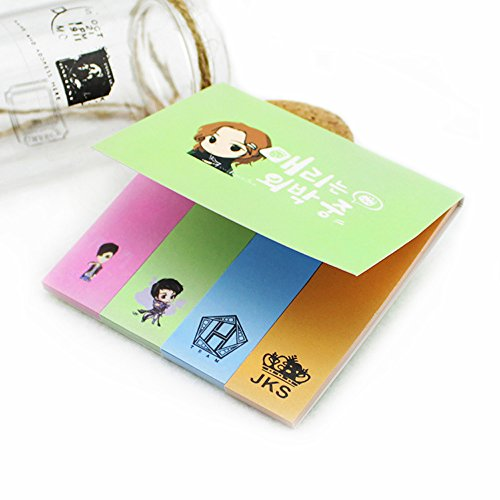 Fanstown EXO Kpop Sticky Notes,book notes,book sticker with lomo cards (Jang Keun Suk)