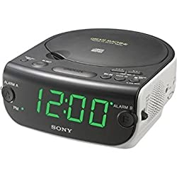 Sony ICF-CD814 AM/FM Stereo Clock Radio with CD Player, White (Discontinued by Manufacturer)