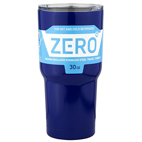 Stainless Steel Tumbler with Lid, Double Wall Vacuum Insulated Travel Mug for Hot and Cold Drink by Zero Degree (30oz Blue) by Zero Degree