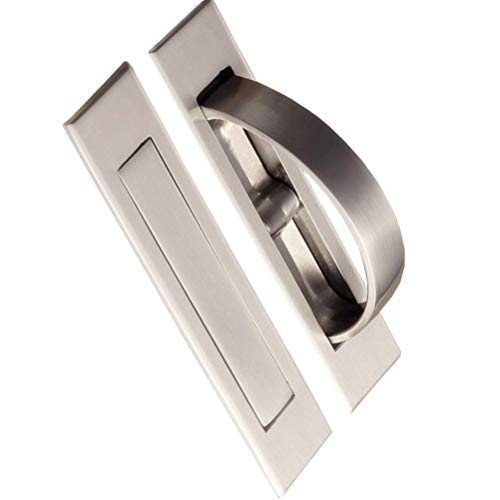 Invisible Cabinet Handles,Pack of 2 Hidden Concealed Tatami Handles Zinc Alloy 180°Rotation Cupboard Drawer Closet Pulls