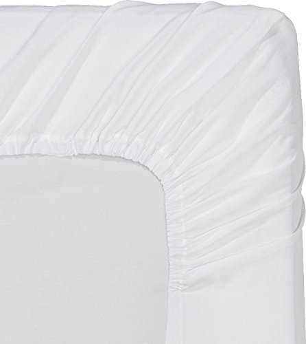 Fitted Sheet (Twin - White) Deep Pocket, Brushed Microfiber, Wrinkle Resistant - by Utopia Bedding (Twin Size Fitted Sheet compare prices)