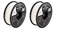 HATCHBOX ABS 3D Printer Filament, Dimensional Accuracy +/- 0.03 mm, 1 kg Spool, 1.75 mm, White from HATCHBOX