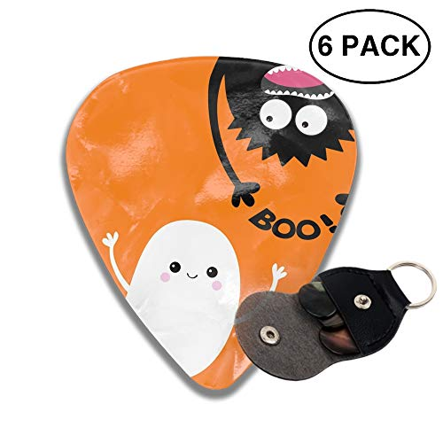 Happy Halloween Celluloid Guitar Picks 3D Printed 6-pcs Thin, Medium, Heavy Gauges For Musician