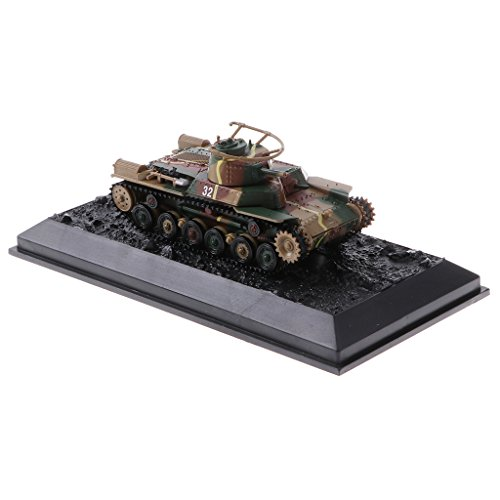 Baoblaze 1/72 Diecast Japanese Medium Type 97 Chi-Ha 1941 Tank WWII Army Model Armour Toy Soldier Kids Gifts (Japanese Tank Medium)
