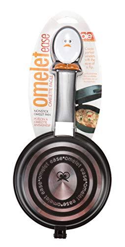 MSC International 50153 Joie Whisky Egg Non-Stick Double Sided Omelette Pan, Silver, Small, Black ()