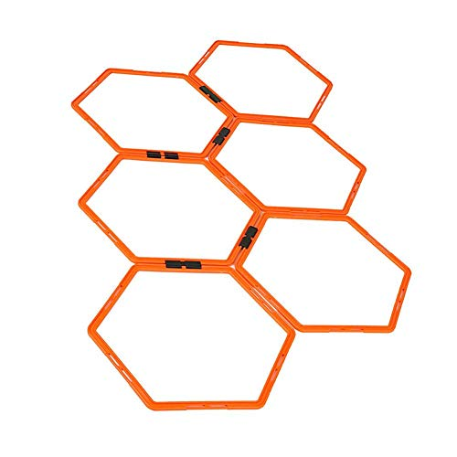 Bestmemories Football Training Rings Field Marking Equipment Training Hexagonal Agility Ring Training Ring Physical Training Ring Football Trainer Ladders Hurdles Speed Training Rings
