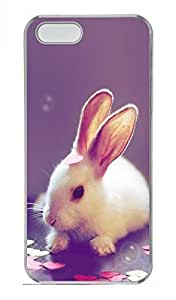 iPhone 5 5S Case Lovely Red Eyes Of Rabbits 2 Funny Lovely Best Cool Customize iPhone 5S Cover Transparent