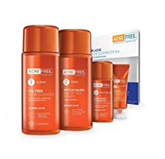 AcneFree 24 Hour Severe Acne Clearing System Kit,Advanced formula eliminates acne bacteria, Visible results in just days. Continuously protects all stages of acne 24 hours a day. Continuous-relief advanced micro-benzoyl peroxide helps severel...