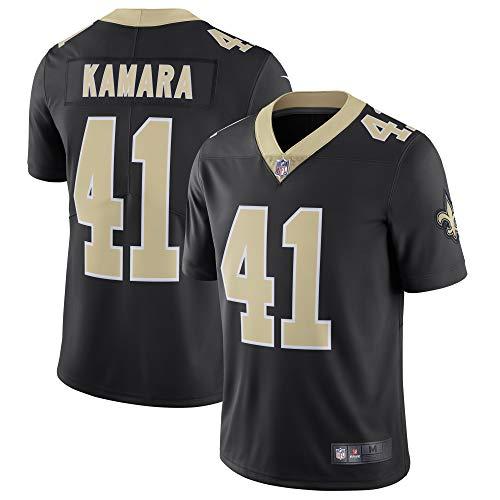 Nfl Big Jerseys Tall - Men's Alvin Kamara New Orleans Saints #41 NFL Football Jersey (M) Black