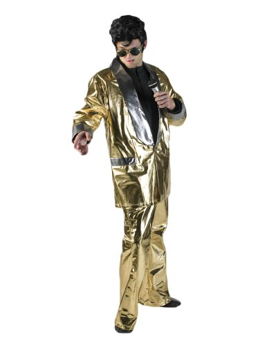 Men's Gold Elvis Theater Costume
