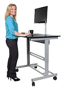 "Amazon.com : 48"" Stand Up Desk w/FREE Monitor Mount (Black"