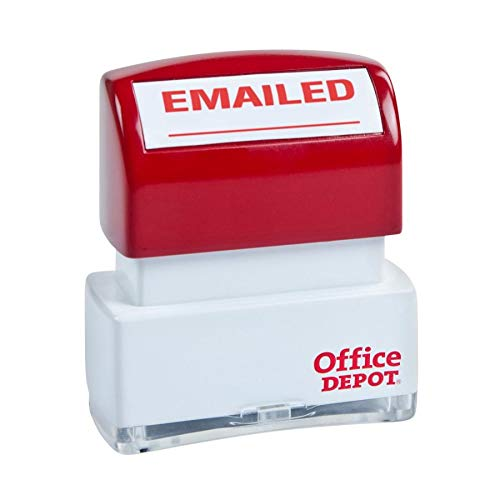 (Office Depot Pre-Inked Message Stamp,