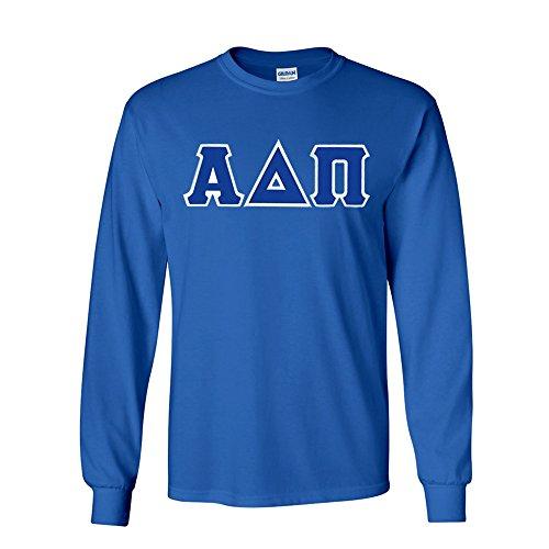 Greekgear Alpha Delta Pi Lettered Long Sleeve Tee X-Large Royal Blue