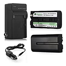 Powerextra 2 Pack Replacement Battery With Charger For Sony NP-F330, NP-F530, NP-F550, NP-F570 and Sony CCD-RV100, CCD-RV200, CCD-SC5, CCD-SC6, CCD-SC55, CCD-SC65, CCD-TRV66, CCD-TRV67, DCM-M1, DCR-SC100, DCR-TR7, DSC-CD250, DSC-CD400, HVR-M10U, HVR-V1J