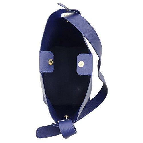 Bag JAM Magnetic Blue Closure Lily Size Button Shopper PU Ladies Womens Fashion Shoulder Tote Large Handbag Leather Faux 66TrOqw