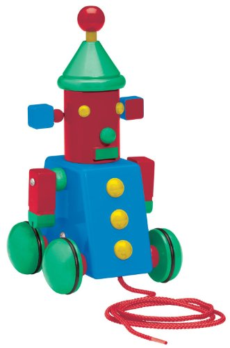 Basic Fun David Kirk Space Robot Pull Toy